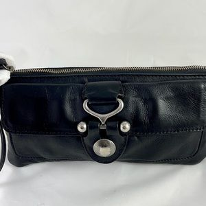 Hobo Black Leather Wristlet